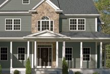 Garage Exterior Materials / Here are some different ideas of various materials used on our garages by our customers