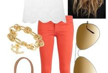 How to wear orange pants