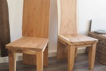 Chairs & benches- wood, metal & Kubu
