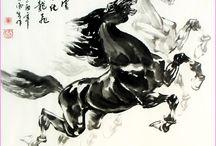 chinese brush p. hevoset