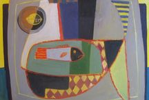 David M Martin RSW / David Martin was born in Glasgow in 1922 and studied at the Glasgow School of Art. A distinguished painter of the Scottish School, his collage-like still lifes combine vibrant colour with multiple perspectives, reminiscent of early Cubist works. Each work contains a certain rhythm, drawing the viewer in and leading the eye around the painting. David's landscapes could be considered almost fauvist in their simplified description of nature and brilliant use of fantastical colour.