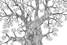 zentangles - tree
