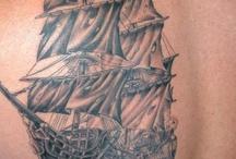 Pirate tattoos-Hubby / by Kim Bennett Pracht