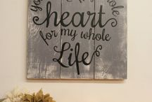 Wooden Sign and Wall Decor