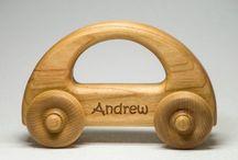 dřevěná auta