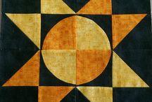 "© Sallie's Sampler Block Quilt, Coolah 2018 / A quilt designed by me using twenty 12"" Blocks"