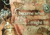 Made by me / Op mijn bord vind je allerlei creaties die ik zelf heb gemaakt en zijn ontstaan uit eigen inspiratie. De technieken die ik toepas zijn Decoupage, Papier mache, Collages, Mixed media en Art journaling