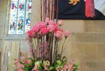 Church flower arrangements