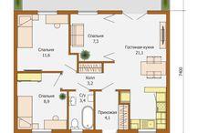 Планировки дома 1 этаж
