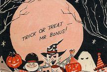 Halloween etikettejä.
