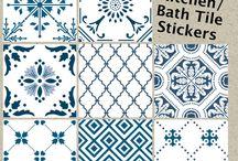 etiquetas azulejo vinilo