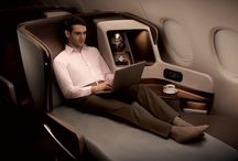 business class airplane / business class flight airplane / by Ronen Shimoni