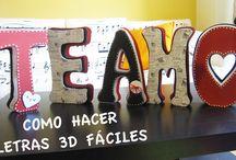 Como hacer LETRAS 3D de cartón