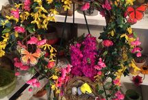 Wreaths / Fresh Floral or Lasting Faux Floral wreaths for all occasions.