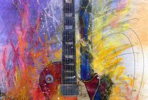 art with guitars