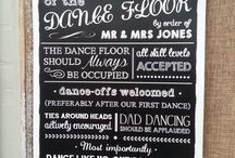 Weddings signs and chalkboards