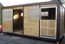 Container Pferdebox / Außenboxen Container Type UrCont Conti Außenboxen UrCont Domino Innenboxen, Führanlage, Reithalle und Zubehör