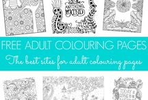 Adult colouring / Adult colouring pages