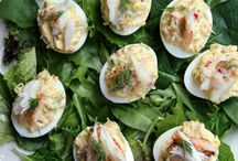 deviled eggs / by Andi Christianson