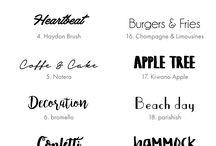 Freebie Fonts / Die schönsten kostenlosen Schriftarten - für jeden Anlass die passende Typografie.