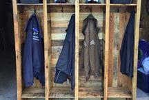 Corridor boot/coat area