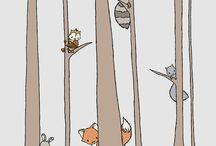 Pokój dziecięcy z motywem lasu