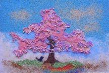 картины / картины из песка, картины из круп, мозаики
