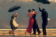 Jack Vettriano e suas pinturas cheias de encontros íntimos