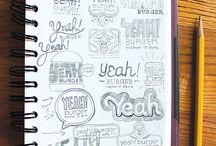 Kunst/tegninger/lettering