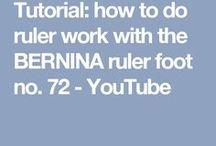 Bernina Ruler Foot Tutorials