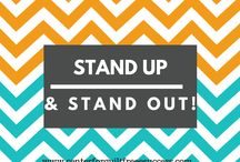 Stand Up and Stand Out / This board is all about helping you become a Networking Rockstar!