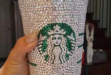 diamonds on starbucks cup