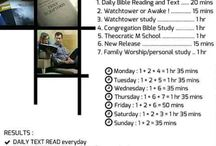 Personal Bible study schedule