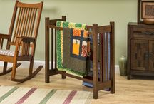 Our Products - Display Your Quilts In Style / Use a Mission style quilt stand or shelf to display your favorite quilt!