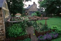 Rustic Pergola Garden - constructed by Jerry Fritz Garden Design / A great idea is to use natural cedar posts created by reclaimed materials to construct a garden pergola. Providing shade as well as structure to the garden space, pergolas create instant appeal in the landscape