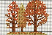 Cross stitch fall