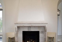 fireplace / by White Bungalow