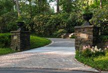 Driveway entrance