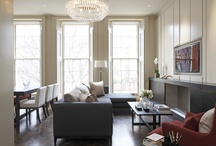 Contemporary Luxury London Flat by McVitty Interior Consultants / Complete refurbishment of a former three bedroom flat into smart two bedroom, two bathroom flat. Entertainment space was enhanced by custom joinery and open plan kitchen.