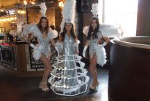 Living Tables & Dresses / There is no better way to welcome your guest than having our beautiful champagne dresses at your event.  Available with or without a cover and can be changed to match you theme/colour scheme