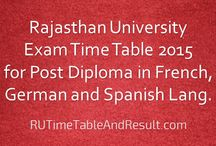 Rajasthan University Time Table & Result 2015