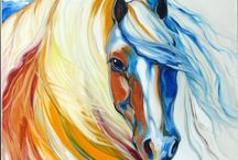 PAINTING. HORSES