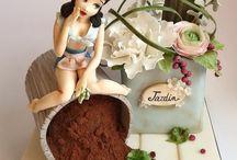 торт с куклами / by Ромашка