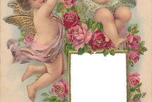 Victorian photo album pages