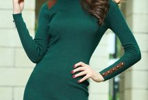 Trendy Women's Dresses, Turtleneck – An Absolute Hit Of The Autumn
