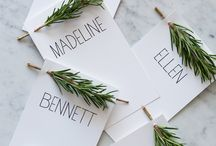 Wedding stationary/table plan/place names