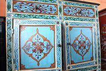 Morocan Furniture Painting