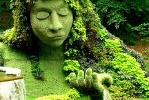 Yesil heykel