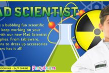 Mad Scientist Party Supplies / Celebrate a bubbling fun scientific party and keep working on your potions with our new Mad Scientist Theme Party Supplies. We've got cups, plates, decorations, dress up accessories and more. Find all the supplies you need at Party Savers stores and online.