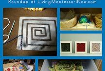 Montessori Sewing, knitting and weaving